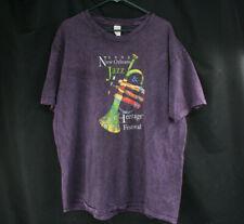 Rare Genuine 2003 New Orleans Jazz & Heritage Festival T-Shirt Men's Xl Purple