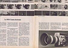 PUBLICITE ADVERTISING 114 1974 la 1014 CANON électronic (2 pages)