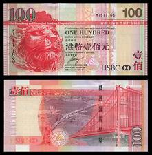 Hong Kong 100 Dollars 2009 P209 UNC (HSBC)