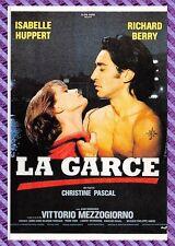"Postkarte Plakat Film - DIE HÜNDIN "" Berry / Huppert """