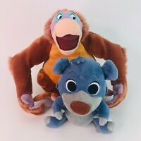 Disney The Jungle Book King Louie Orangutang and Baloo Bear Soft Plush Toys