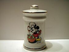 Walt Disney Mickey Mouse Chef Salt Pepper Shaker Made in Japan.