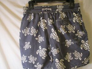 "Medium Blue & White  VILEBREQUIN ""Turtles"" Swim Trunks/Bathing Suit"