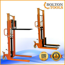 Bolton Tools Foot Operated Pallet Stacker 1100 lb QSD100C-16 Free Shipping!