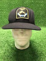 Vintage Rare Omaha Police Department Black New Era SnapBack Hat Cap Nebraska