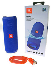 JBL FLIP 4 Bluetooth Lautsprecher Soundbox Wasserfest Freisprechen Musik Blau