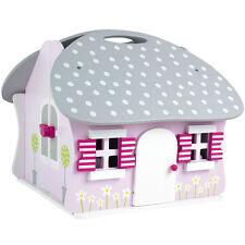 JaBaDaBaDo Puppenhaus tragbar, klappbar, aus Holz mit Bärenfamilie