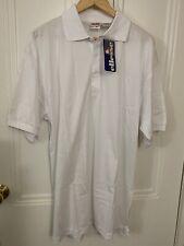 Nos 2Xl Mens Ellesse White Tennis Polo Shirt New Size 8 Vintage Classic