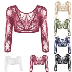 Women Seamless Arm Shaper Sleevey Wonder Trendy Lace V-neck Perspective Cardigan