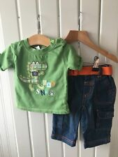 Baby Boy's Clothes 3-6 Months - 2pc Outfit Crocodile Theme Top & Jeans 🐊🐊🐊