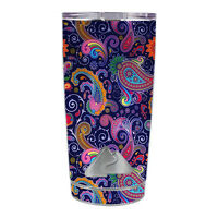 Skin Decal for Ozark Trail 20 oz Tumbler Cup (5-piece kit) / Purple Paisley