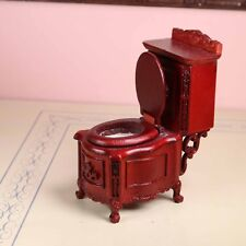 "Mahogany Toilet Commode MUSEUM QUALITY DOLLHOUSE FURNITURE 1:12/1"" Scale BESPAQ"