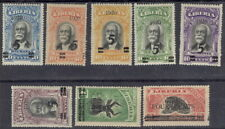 Liberia 1920, overprint set of eight #176-82,179a wild animals