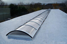 Polycarbonate Barrel Vault Rooflight - Roof Window - Skylight.  Kerb Sketch.