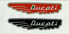 "2 X ""DUCATI FUEL TANK"" VINYL DECAL STICKER ITALY Honda Suzuki MOTORCYCLE"