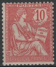 "FRANCE STAMP TIMBRE 124 "" MOUCHON RETOUCHE 10c ROSE "" NEUF xx LUXE  M575"