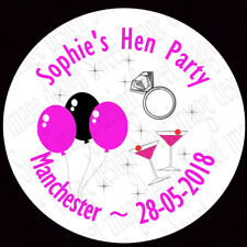 Personalised Hen Party Stickers Labels girls night out gift bag stickers Bling