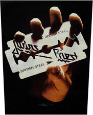 Xlg Judas Priest Woven Sew On Back Patch - British Steel Battle Jacket Patch