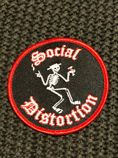 Social Distortion Embroidered Patch Iron-On Sew-On - 3in round