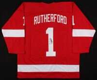 Jim Rutherford Signed Detroit Red Wings Hockey Jersey JSACOA Authentic Autograph
