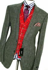 BNWT MENS HUGO BOSS GREY DONGAL TWEED LINEN SUIT JACKET BLAZER 48R EUR 58R