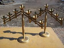 7 Candle 2 Candelabra set Brass simple adjustable (CS 1)