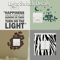 Light Switch Covers Decals Wall Stickers Vinyl Art Transfers Interior Home Decor