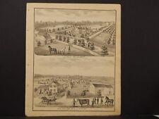 Michigan, Lenawee County Map, 1874 Engravings, Medina, River Bank Farm K3#63