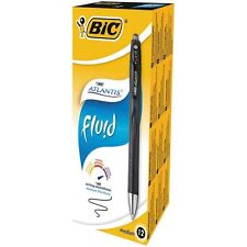 Penna a scatto Bic Atlantis Fluid Nera punta media 1,2 mm.