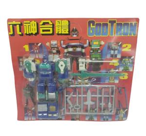 VINTAGE MOC GODTRON JAPANESE VOLTRON CHOGOKIN TOEI BOOTLEG KO NOS BLUE ROBOT TOY