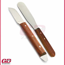 2er Gipsspatel mit Holzgriff Pflaster Messer Alginat Techniker Labor Instrumente