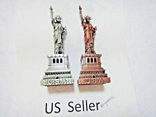 1x-Vintage 6 inch metal figure figurine Statue of Liberty USA base US Seller