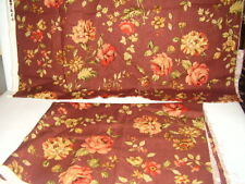 Vintage Floral Roses Upholstery Fabric 3+ yds