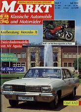 Markt 7/91 1991 MV Agusta 350 S Fiat Dino Mercedes /8 Opel KAD Kadett A Land Rov