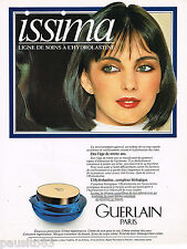 PUBLICITE ADVERTISING 055  1984  GUERLAIN  maquillage cosmétiques ISSIMA