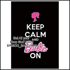 "Fridge Fun Refrigerator Magnet ""KEEP CALM AND BARBIE ON"" - Pink Princess"