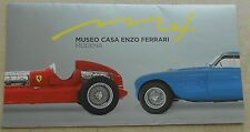 Museo Casa Enzo Ferrari Modena 2013 Folder Brochure Prospekt book buch press