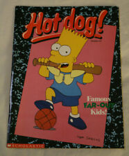 Hot Dog Magazine #67 Bart Simpson 1991 Scholastic W/Book Cover Pencil Space Pals
