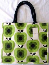 BNWT ORLA KIELY Green Apple Estampado Bolso Shopper Yute