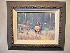 ELK STANDING GUARD......ORIGINAL OIL PAINTING  BY  ED  DUROSE