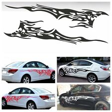 "83"" x 19"" Car Decal Vinyl Graphics Two Side Stickers Body Black Decals Sticker"