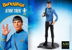 Noble collection Bendyfigs - Star Trek Tos - Mr. Spock - Biege-Figur - Nuovo /