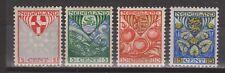NVPH Netherlands Nederland 199 200 201 202 MLH ong 1926 kinderzegels