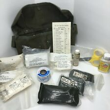 VINTAGE US ARMY MILITARY BELT TYPE FIRST AID KIT FULLY STOCKED W SUPPLIES