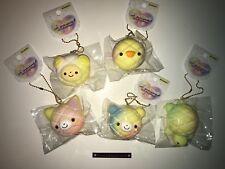 Animal melon mini buns set Slow Rising soft Rainbow Squishy Kawaii
