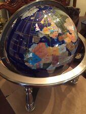 World Globe with semi precious stones
