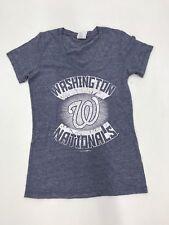 MLB Team Apparel Women's Washington Nationals Starburst Steel Blue Sample Small