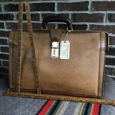 RARE VINTAGE 1970s HARTMANN BRITISH TAN LEATHER GLADSTONE BRIEFCASE BAG R$1498