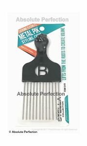 Pro Grade Magic High Quality Hair Pick Afro Pick Styling Pik Metal Pik (Pack ...