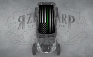 4 SEAT POLARIS RZR CAN-AM GREEN LINE UNIVERSAL ROOF WRAP STICKER GRAPHIC DECAL